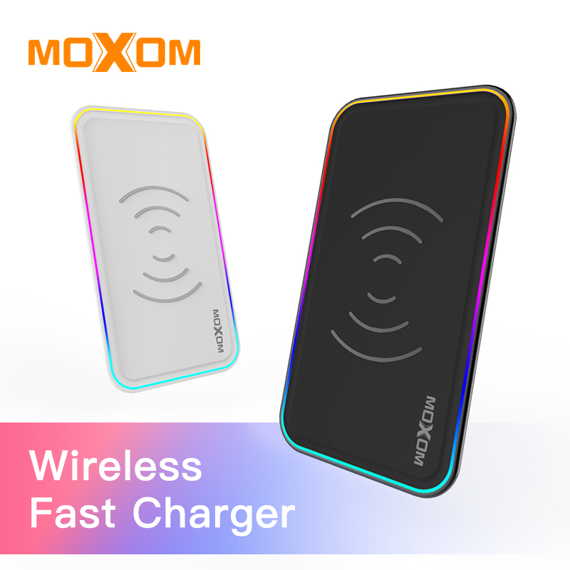 MOXOM Wireless Charger QC 3.0 Wireless Fast Charger 10W Input Mobile Phone Charger Wall Charger For iPhone, Xiaomi, Huawei Etc