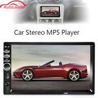 2 Din 7 '' Dokunmatik Ekran Araba Radyo Çalar Ses Stereo Bluetooth MP5 FM AUX Çalar Birden Fazla Dil Menü Ile Dikiz Kamera
