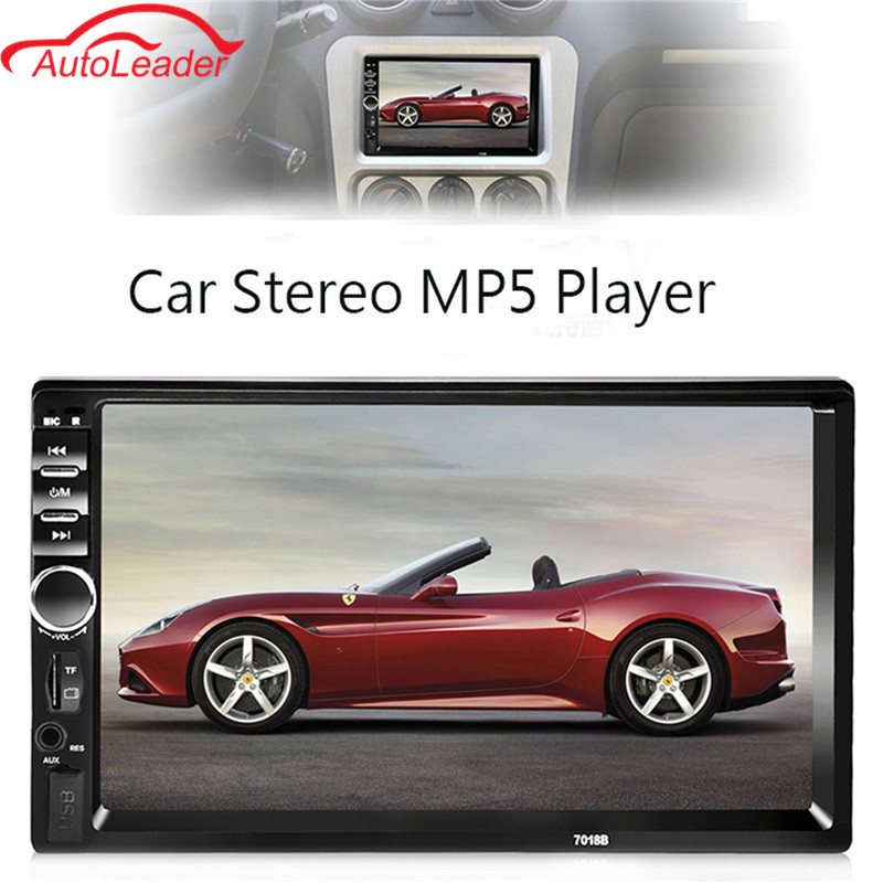 2 Din 7'' Touch Screen Car Radio Player Audio Stereo Bluetooth MP5 FM AUX Player Multiple Languages Menu With Rear View Camera 4022d car radio mp4 player with rear view camera 4 1 inch car mp3 mp5 player bluetooth fm transmitter stereo audio for music