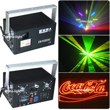 dj lighting 2W RGB Animation laser show system / outdoor text-image laser projector(China)