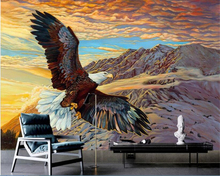 beibehang papel de parede wallpaper The new Chinese modern minimalist Eagles cleaved the sky background papier peint bebang