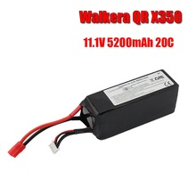 купить GTFDR Walkera QR X350 PRO Lipo battery 11.1V 5200Mah 3S 20C RC Drone Quadcopter SPARE PARTS SKT RC LI Po battery дешево