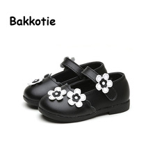 Bakkotie 2017 Baby Mary Jane Spring Autumn Fashion Girl PU Leather Flat Princess Kid Brand Flower Children Shoe Comfort Toddler