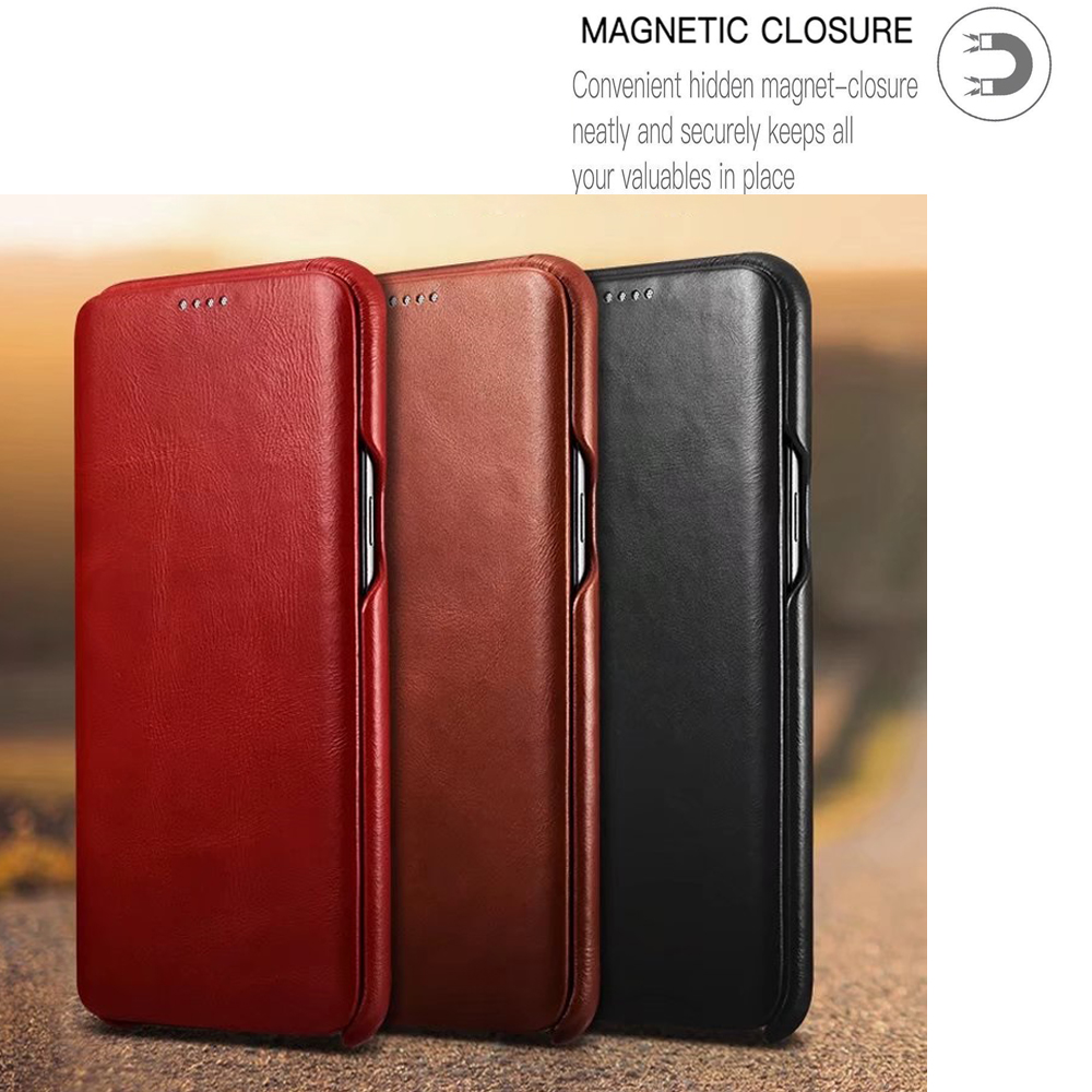 Цена за ICarer для Galaxy S8 плюс флип чехол, Ретро кожа Магнит Чехол-книжка для Samsung Galaxy S8 S8 плюс защитный телефон S8Plus крышка
