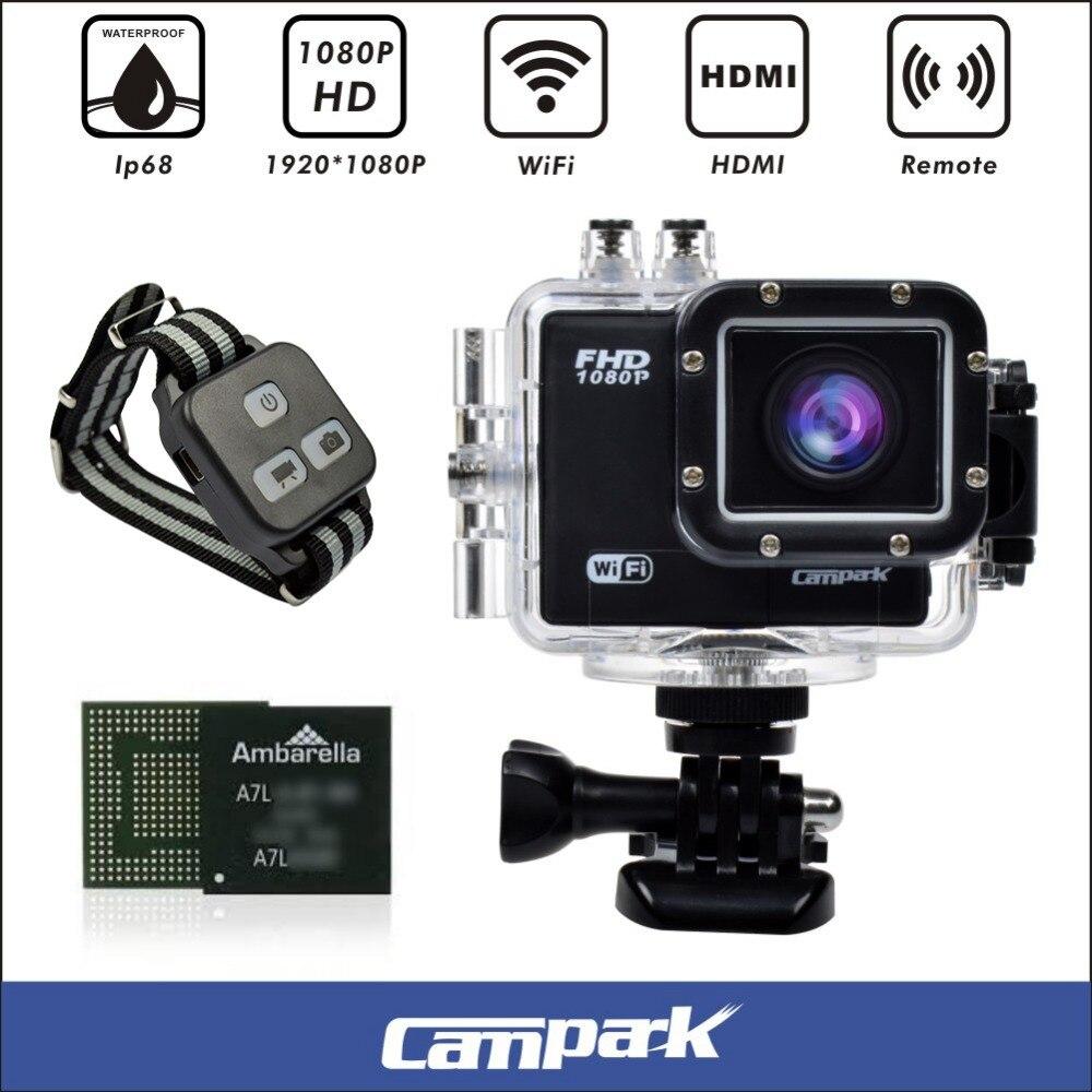 Campark ACT70 16MP 1080 P 60FPS de Ambarella A7LS75 2.0 \