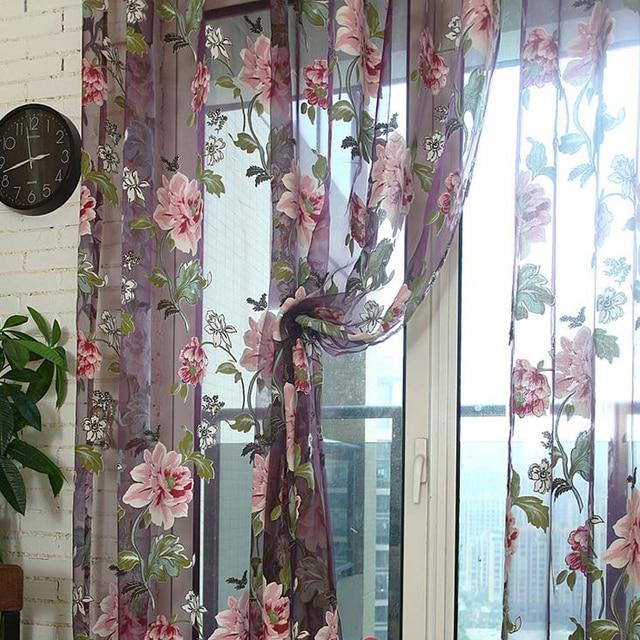 Eseld viola tulle per le finestre di lusso tenda pura per la cucina soggiorno alla camera da letto design complementi arredo per le finestre tendaggi pannello