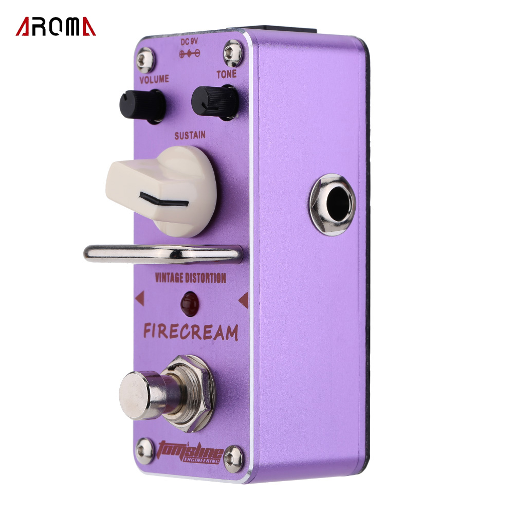 Aroma Tomsline AFM-3 Firecream Vintage Distortion Guitar Effect Pedal Guitarra Effect Pedal True Bypass aroma tom sline amd 3 metal distortion mini guitar effect pedal analogue effect true bypass