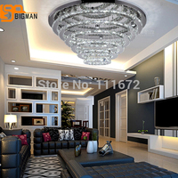 modern chrome LED crystal chandelier for hall lobby lighting fixtures lustre LED lamps guaranteed 100%