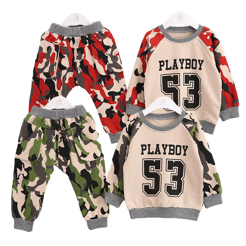 Anlencool 2017 Baby Boy Clothes Spring New Korean Version Of The Models In Camouflage Suits For Boys And Girls Free Shipping ...