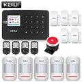 KERUI W18 Color negro Mental inalámbrico de Control remoto de alarma de su casa Wifi GSM APP LCD GSM SMS ladrón sistema de alarma de seguridad