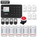 KERUI W18 Mental Cor Preta Controle Remoto Wi-fi APLICATIVO GSM LCD de Alarme Home Sem Fio GSM SMS do Assaltante Sistema de Alarme de Segurança