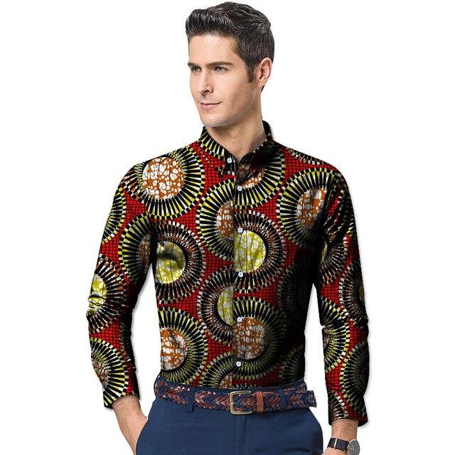 Connu Beau Hommes de Chemises Africaines Afrique Motif de Fête À Manches  FK54