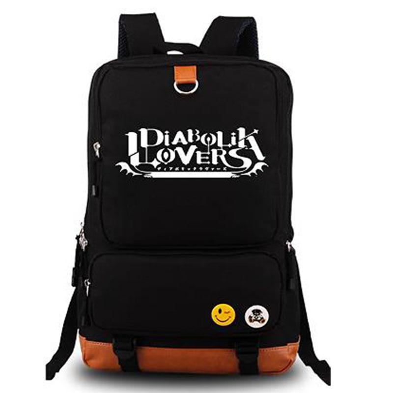 2017 New Anime DIABOLIK LOVERS Laptop Backpack Bags Cosplay Cartoon Travel Shoulder Bags School Bags Bookbag diabolik lovers anime backpack comic shoulder luminous bag new wtag