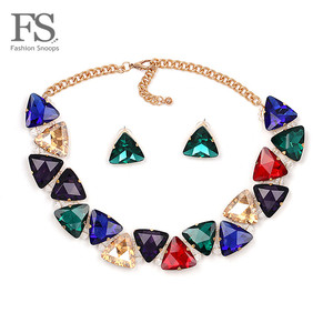 Hot Sale Luxury Choker Necklace Collar Crystal Necklace & Pendant Fashion Statement Choker Necklace Set Maxi Jewelry Wholesale(China)