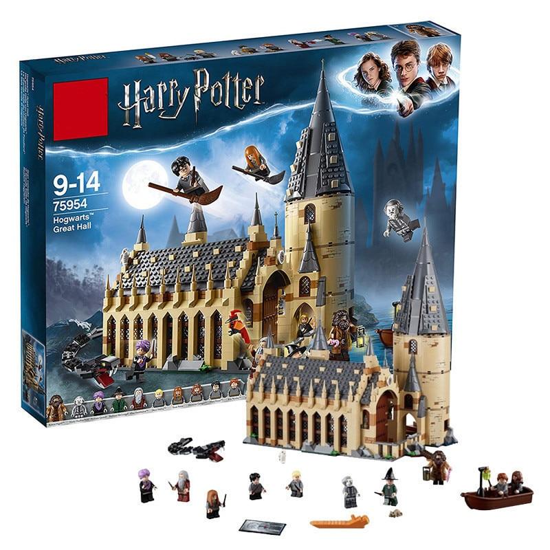 Legoing 75954 Nouveau Harri Potter Serices Poudlard Grande Salle Compatibilité Blocs de Construction Briques Jouets Cadeau De Noël