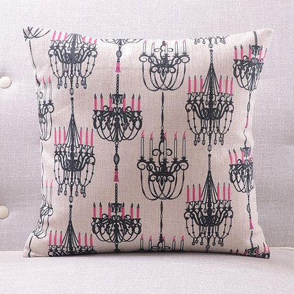 Розовая люстра подушки люстра с покрытием чехлы на подушки 45х45см наволочка 30X50 см домашний Спальня диван кровать украшения - Цвет: 3