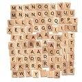 Azulejos Scrabble (100 Fichas de Letras)/Alfabeto De Madera Scrabble Baldosas