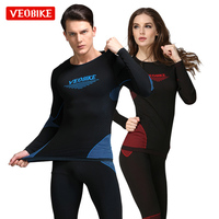 VEOBIKE Outdoor Sport Thermal Underwear Man Women Long Clothes Johns Men Quick Dry For Ski Riding Climbing Cycling Base Layers