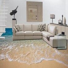 Custom 3D Beach Sea Water  Floor Mural Paintings