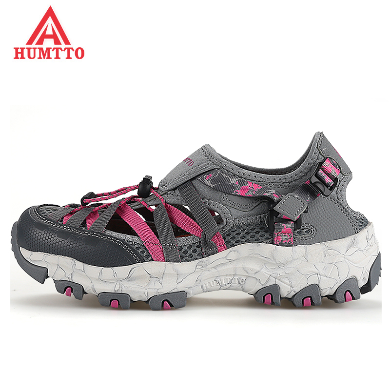 цены 2017 Womens Sports Summer Outdoor Hiking Trekking Aqua Shoes Sandals Sneakers For Women Sport Climbing Mountain Shoes Woman