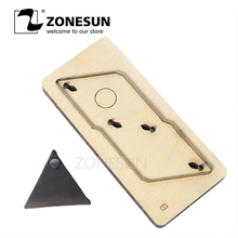 ZONESUN Customized Triangle Shape Leather Coin Holder Change Purse Minimalist Wallet Cutting Mold Die Cutter Animal Japanese Ste zonesun leather cutting machine tool knife cutter edge cutting for leather handcraft diy wallet handbag name card holder purse