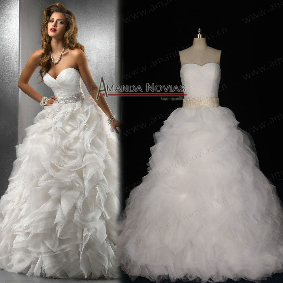 strapless puffy wedding dresses big puffy wedding dresses Aliexpress Real Sle Strapless Puffy Anza Bridal Wedding Dresses Ns From Reliable Dress Up Games Suppliers