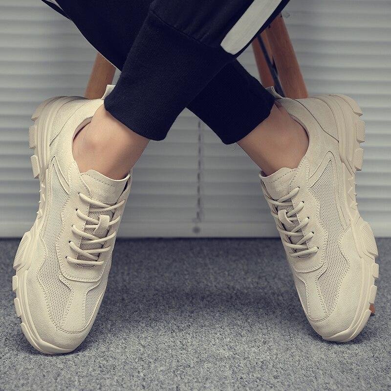 Chaussures pour hommes été nouveau style joker chaussures de loisir à la mode hommes respirant chaussures de mode vêtements de travail chaussures Martin