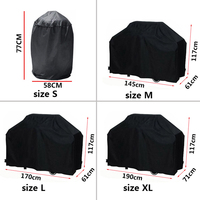 Black Waterproof BBQ Grill Cover Anti Dust Rain Proof Barbecue Protecter Drop Shipping For Gas Charcoal