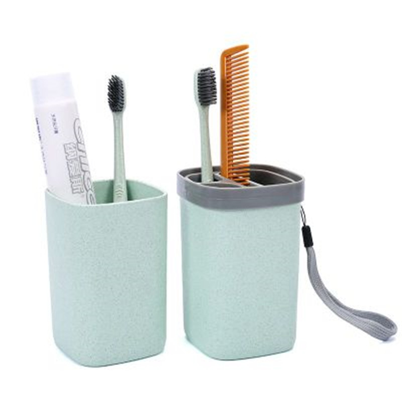 New travel plastic box portable cosmetics storage box toothbrush toothpaste storage box business bathroom accessories