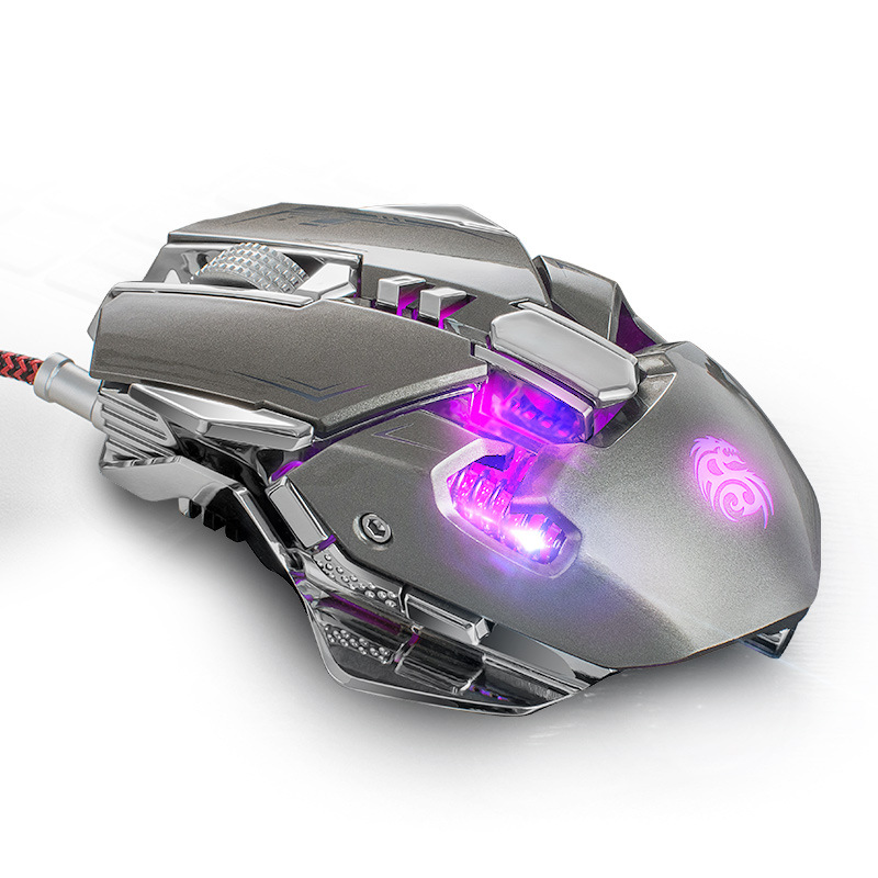 Pesi In Metallo Meccanico GUIKA Wired Gaming Mouse Ricaricabile 3200 dpi Mouse Ottico RGB Retroilluminato Mouse Per Gamer Overwatch Gioco