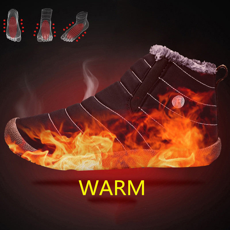 MARSON Men Winter Shoes Solid 4 Colors Men 39 s Snow Boots Plush Inside Bottom Keep Warm Waterproof Ski Boots Plus Size 35 48 in Snow Boots from Shoes