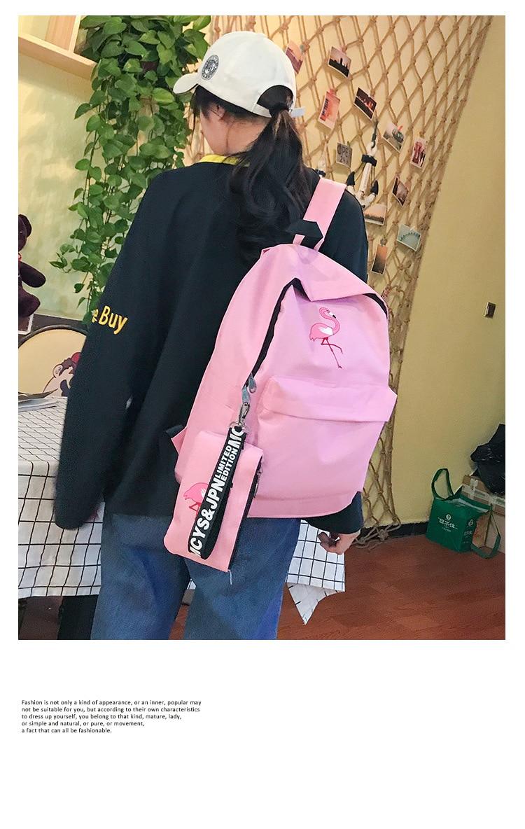 HTB1lDjNdi6guuRjy1Xdq6yAwpXa0 Backpacks Brand Women Simple Flamingo Printing Backpack For Teenage Girls Laptop School Bags Mochila 2019