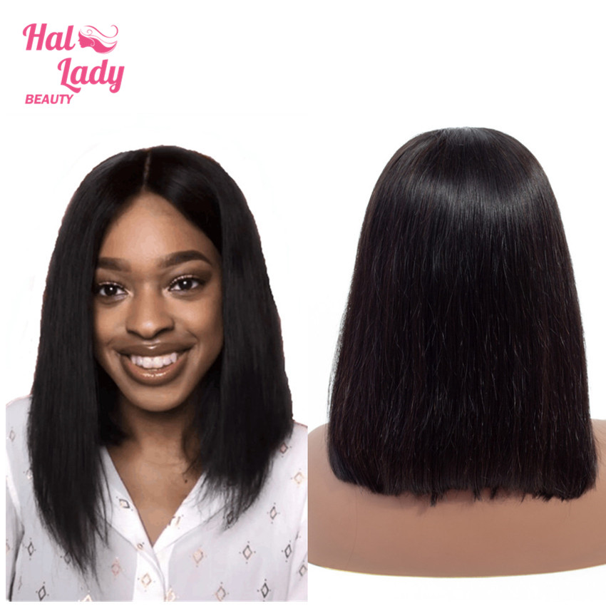 HTB1lDjmaoz1gK0jSZLeq6z9kVXad 13x4 Bob Lace Front Human Hair Wigs Middle Deep Part Brazilian Lace Front Non-remy Hair Wigs with Baby Hair Halo Lady Beauty