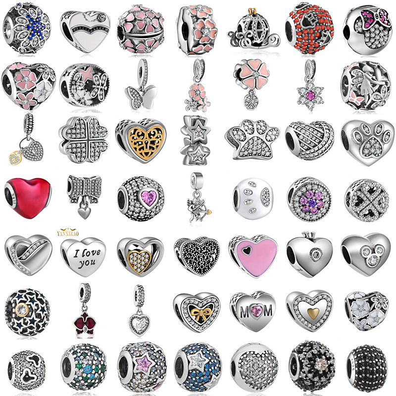 Diy Jewelry Making Women Fit Pandora Charms Beads Sterling Silver 925 Original Bracelet Beads for Jewelry Making GW2-189(China)