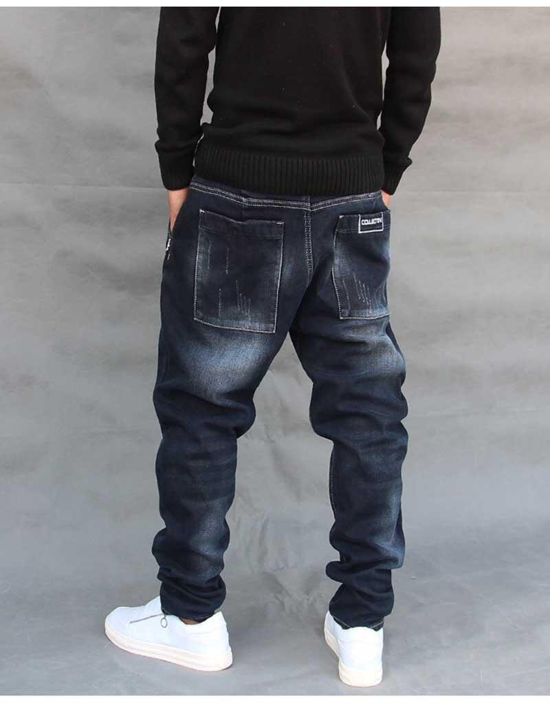 180ef3182c6 2019 Fashion Hip Hop Harem Jeans Mens Jogger Pants Jeans Cotton ...