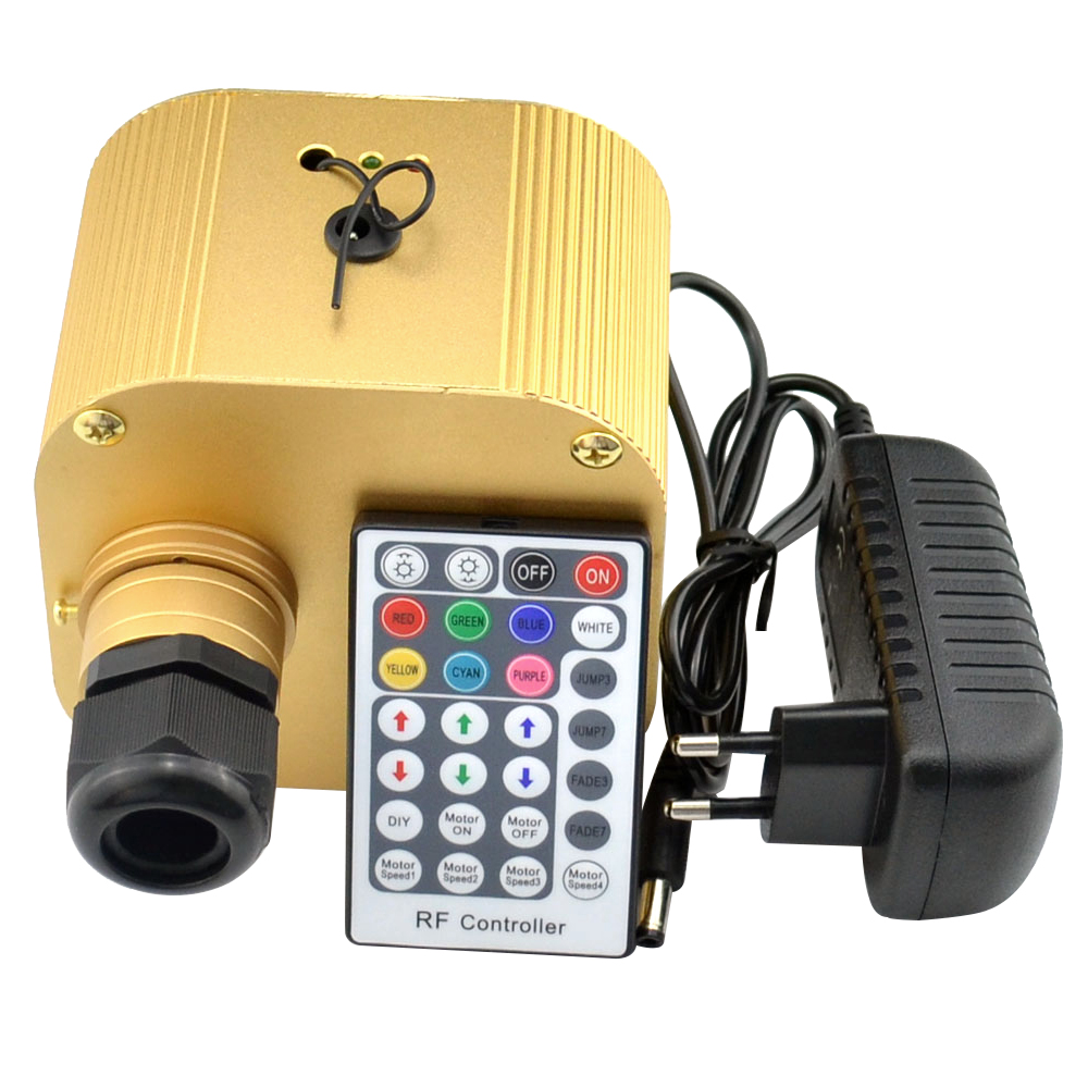 16W Twinkle RGBW LED Fiber Optic Light engine with 28Key RF Remote controller for fiber optic star Starry Sky