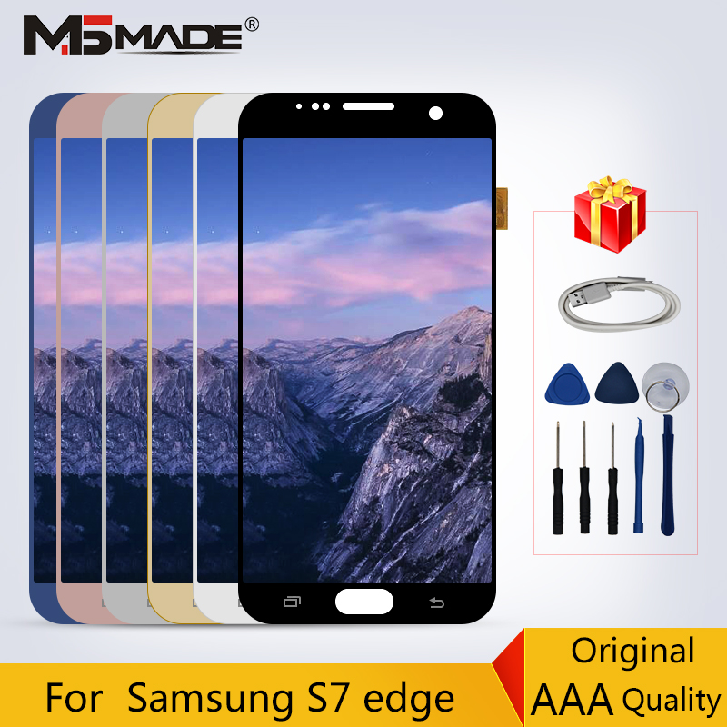 100% New Original LCDs For Samsung Galaxy S7 Edge G935 G935F LCD Display Touch Sreen Digitizer Replacement Parts 5.5 No Shadow100% New Original LCDs For Samsung Galaxy S7 Edge G935 G935F LCD Display Touch Sreen Digitizer Replacement Parts 5.5 No Shadow