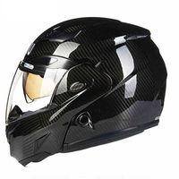 AMU Carbonfiber Flip Face Helmet Moto Adult Mens Cascos Capacete Motorcycle Helmet Motorbike Helmet Motocross Helmets