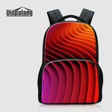 Dispalang Для женщин мода рюкзак для ноутбука 14 дюймов Тетрадь полосатый Школьные сумки для подростков Обувь для девочек холст Mochilas bagpacks pack