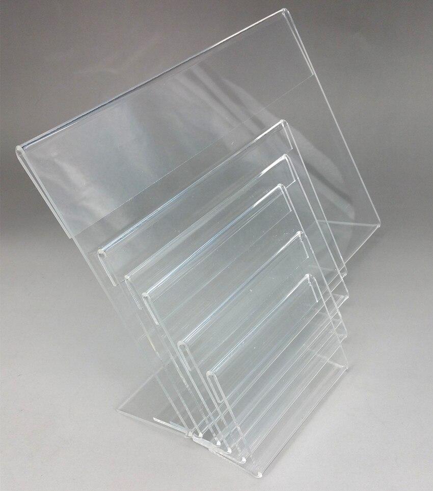 19x13 cm plástico acrílico T2mm signo Pantalla de papel de promoción ...