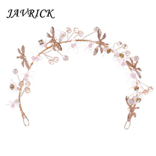 JAVRICK Hair Band Floral Crystal Handmade Luxury Girls Women Hair Jewelry Headband Headwear Wedding Party Gifts Decoration