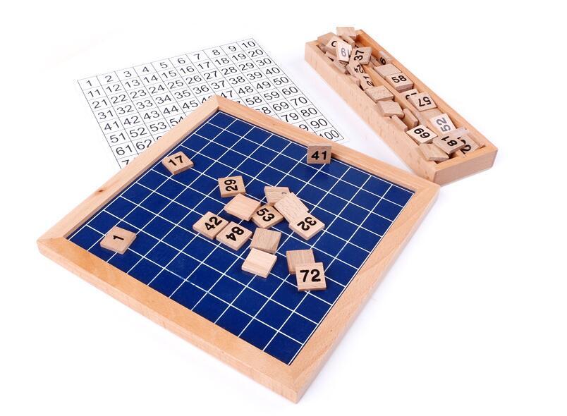 1-100 tableau en bois numérique Montessori jouets mathématiques Montessori matériaux jouets éducatifs pour enfants tableau numérique Figure blocs jouet - 3