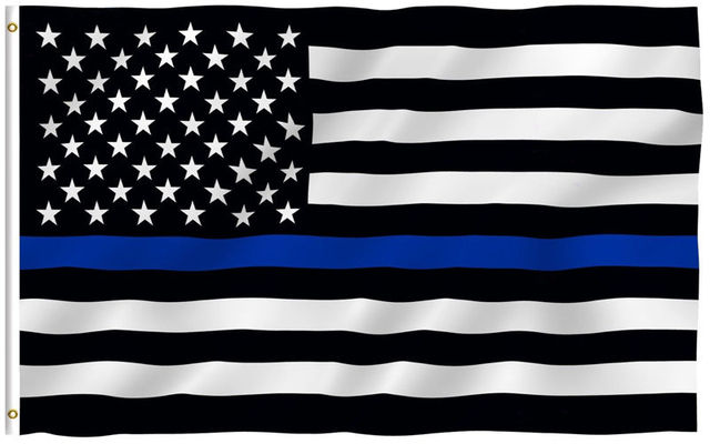 free shipping blueline usa police flags 90 150cm thin blue line usa