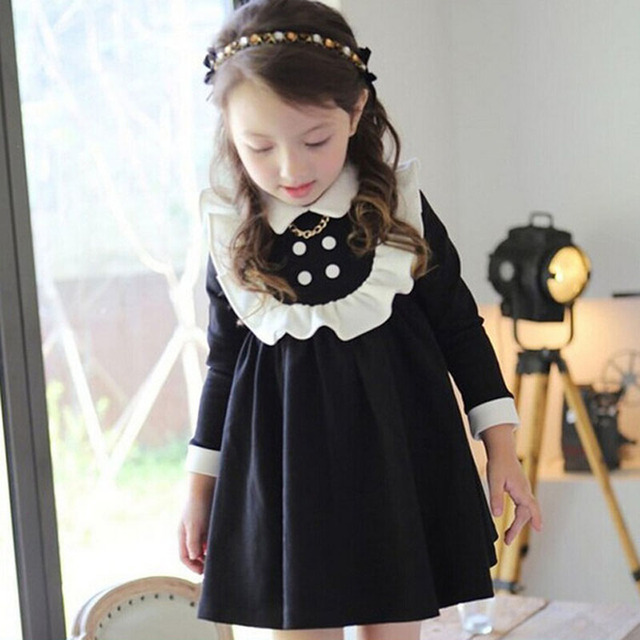 485f2b8bfae9 CN Spring 3 7 years Girl long sleeves dress Cotton Thick Fall ...