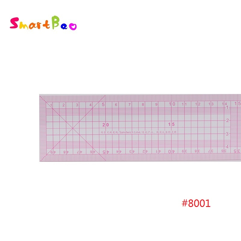 50cm Metric Sandwich Line Rulers Patchwork Ruler  #8001
