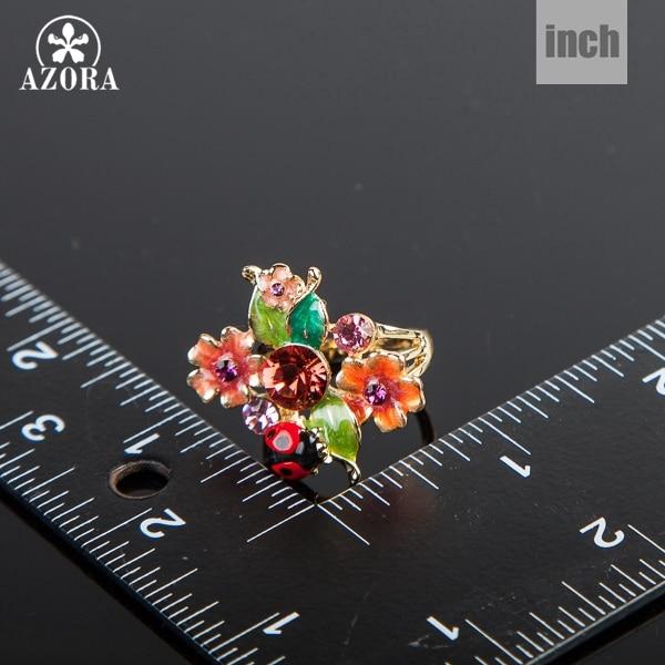 AZORA Guldfärg Stellux Österrikiska Crystal Multicolour Insects and - Märkessmycken - Foto 3