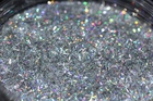 Holo Silver sequin glitter for slime, tinsel shape, bar shaped glitter, glitter wholesale craft supplies, bulk