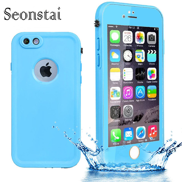 new concept b45e9 ffcf6 US $3.99 15% OFF|For iphone 6 Waterproof TPU Case IP54 Slim Life Water  Proof Protection Cover for iphone 6s Cases Silicone Bag with Fingerprint-in  ...