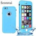 Para iphone 6 case tpu impermeable ip54 delgado agua de la vida a prueba de cubierta de protección para iphone 6 s casos bolsa de silicona con huella digital