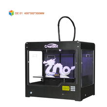 DE01 400*300*300mm 400 degrees single Extruder Creatbot 3d printer Large Size FDM 3D Machine House Use for sale